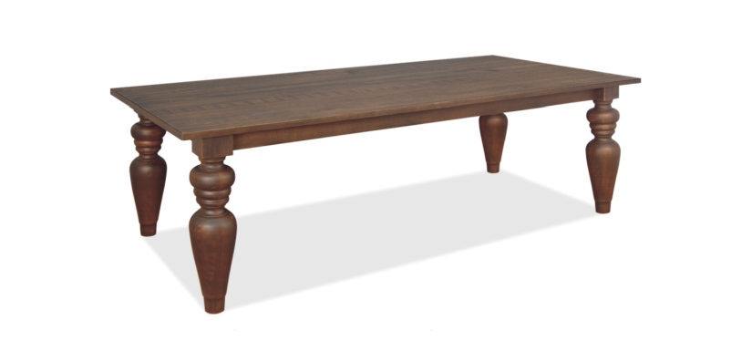 Flora Dining Table with 7″ Turning Legs