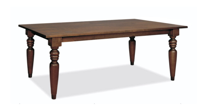 Flora Dining Table with 4″ Turning Legs